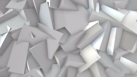 gray background : White blocks. Stock Footage