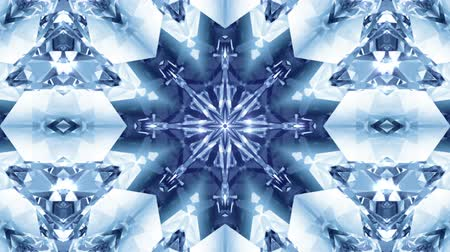 sniezynka : Beautiful background with kaleidoscopic snowflake. Seamless loopable. HD videoclip.