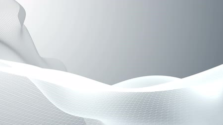 sima : Animation of  abstract  background with white waves and network. HD.