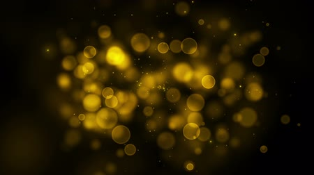 Golden particle seamless background with with alpha channel. HD. 2.