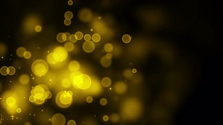 Golden particle seamless background with with alpha channel. HD. 1.