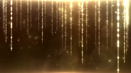 Abstract  background with golden lights. Progressive scan, seamlessly loop-able. Wideo