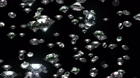 Abstract background with slow falling of diamonds.