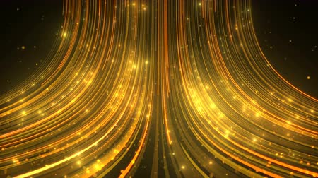 Abstract Glamour Background of Glitter Golden Particles and Streams.