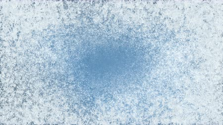 Frost Forming On Blue. Digital 3 d generated abstract wintry frost background.