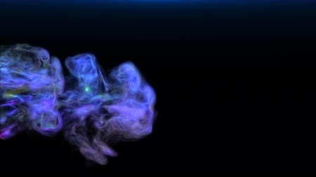 variegado : Abstract animation. Multi-colored smoke flowing and disappears. Blue Stock Footage