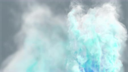 Three-dimensional animation seamless loop of smoke, clouds or fog.