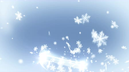 Snowflakes with Light Lines. Selective Focus. Abstract  Animation of Snow. Christmas background. Стоковые видеозаписи