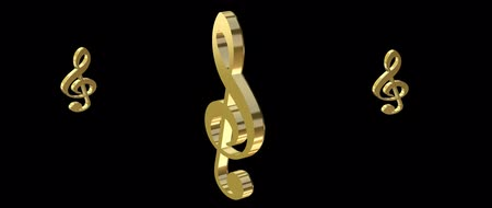 armoni : 3d treble symbol of music