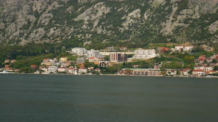 City Dobrota in the Bay of Kotor, Montenegro. Wideo