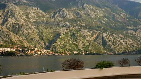 The Old Town of Kotor.  Kotor Wall. The wall around the city on the mountain. Montenegro