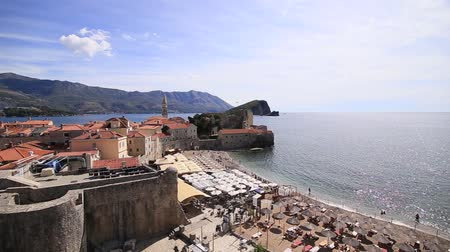 yugoslavia : The Old Town of Budva, Montenegro Stock Footage