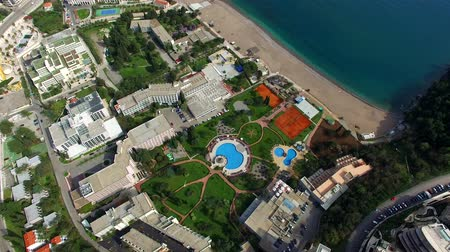 összetett : Luxury hotel complex Dukley in Budva, Montenegro. Shooting with the drone, aerial