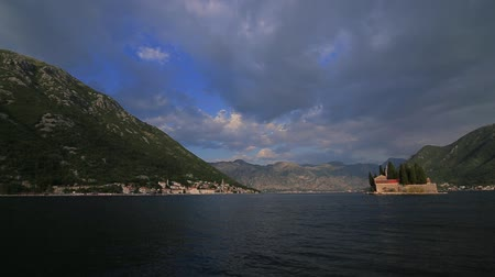 балканский : The island of Gospa od Skrpela, Kotor Bay, Montenegro.