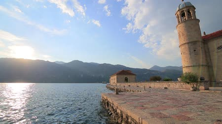 адриатический : The island of Gospa od Skrpela, Kotor Bay, Montenegro.