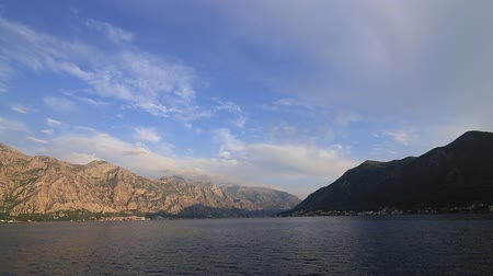 balkan : Kotor Bay in Montenegro. Mountains, canyons sea