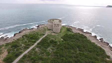 austro hungarian : Fort Arza in Montenegro, near the island of Mamula in the Adriatic Sea. Stock Footage
