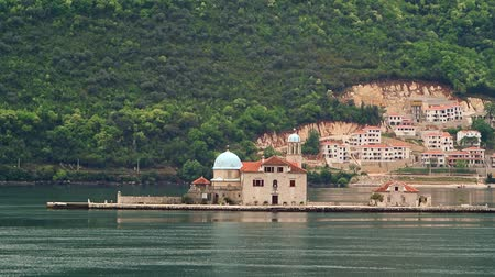 yugoslavia : The island of Gospa od Skrpela, Kotor Bay, Montenegro.