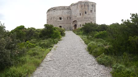 mala : Fort Arza in Montenegro, near the island of Mamula in the Adriatic Sea. Vídeos