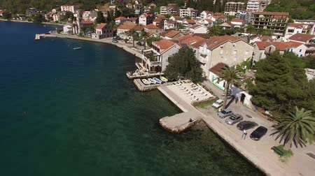 yugoslavia : Hotel on the shore of Kotor Bay. Aerial photography.
