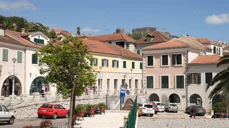 балканский : Herceg Novi is a new city, Montenegro, Adriatic Стоковые видеозаписи