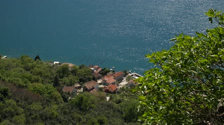 amalfi : Houses on the coast. View from the mountain to the house on the shore of the Bay of Kotor in Montenegro.