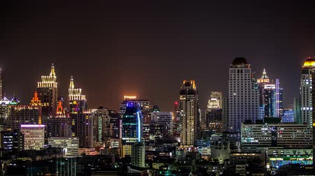 Bangkok city twilight view with traffic,Time lapse