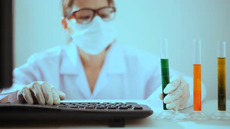 Laboratory scientist working at lab