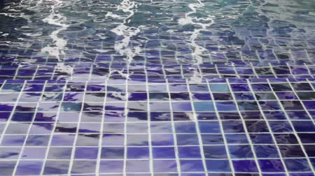 Stairs under the water of swimming pool, stock footage Stock Footage