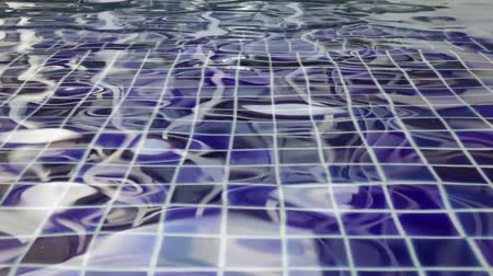 Transparent blue surface swimming pool, stock footage