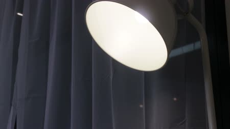 Simple lamp light in the living room, stock footage