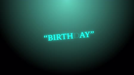 Birthday random light text background, stock motion