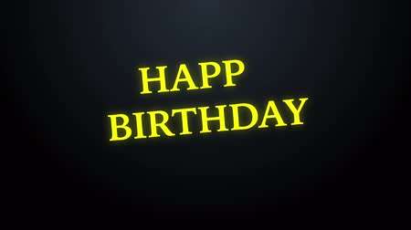 caligrafia : Happy birthday motion glow text background, stock motion Stock Footage
