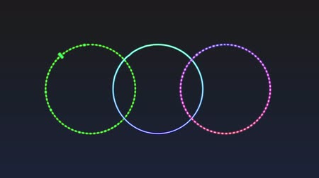 Created colorful circle audio spectrum, stock motion