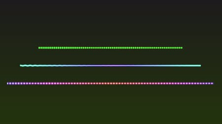 Created colorful line audio spectrum, stock motion