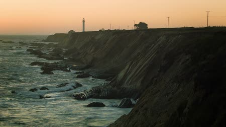 low lighting : Lighthouse Dusk - A static magic hour shot of northern California light house.