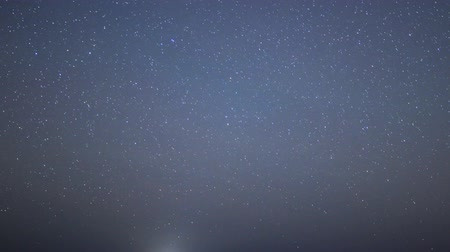 sentimentální : Astrophotography time lapse footage with zoom out motion of night seascape in Malibu Beach