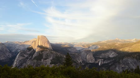 glacier point : Time lapse footage of half dome at sunset afterglow in Yosemite National Park Stock Footage