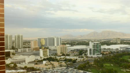 nevada : Time Lapse of Las Vegas Cityscape at Dusk -Zoom Out- Stock Footage