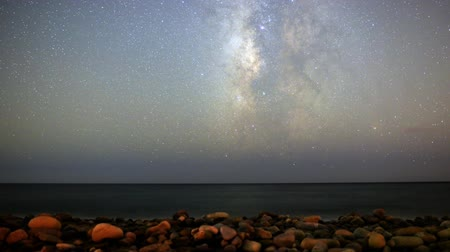ostrovy : Motion Control Dolly Astro Time Lapse of Milky Way Seascape -Pan Right-