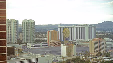 nevada : 4K Time Lapse of Cityscape in Las Vegas -Tilt Up-