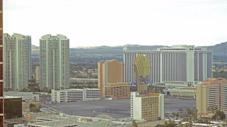 nevada : 4K Time Lapse of Cityscape in Las Vegas -Pan Right-