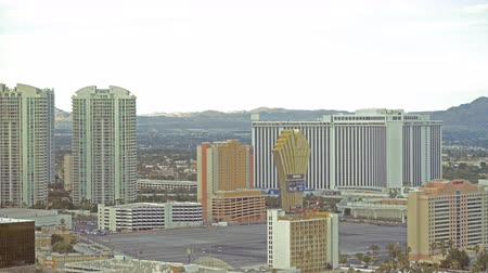 nevada : 4K Time Lapse of Cityscape in Las Vegas -Zoom In-