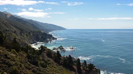центральный : 4K Time Lapse of Cloudscape over Central California Coastline -Pan Right-