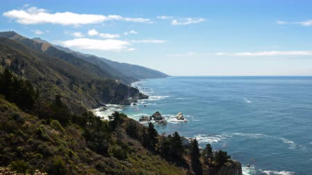 центральный : 4K Time Lapse of Cloudscape over Central California Coastline -Zoom Out-