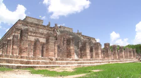 local population : Mayan Ruin of Chichen Itza Time Lapse Stock Footage
