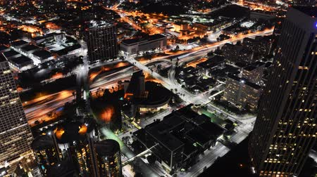 semafori : Downtown LA Night Cityscape Time lapse estrema Camera Sposta