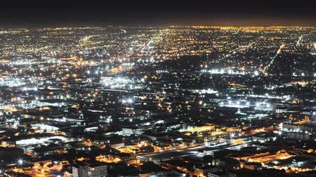 cauda : Downtown LA Night Cityscape Time Lapse Pan  Zoom Out
