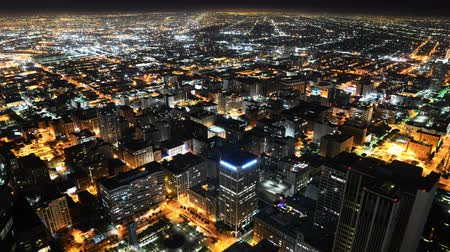 stadsgezicht : Downtown LA Night Cityscape Time Lapse