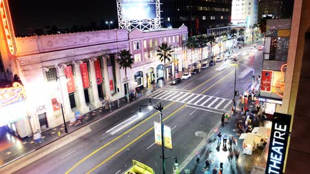 filmes : Hollywood Night Time Lapse The Boulevard